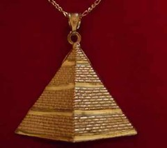 Gold Plated Egyptian Silver Pendant PYRAMID Egypt - $44.04