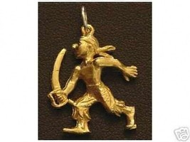 Silver PIRATE Sword Pendant Ship Charm Gold Plated - $19.15
