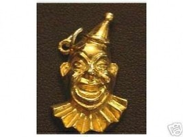 Gold Plated Funny Clown Jester pendant charm Jewelry - $17.26