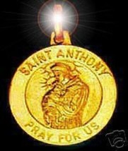 Gold Plated Saint Anthony Charm Pray for us Jewelry - $18.20
