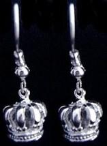 New Medieval Sterling Silver 925 Crown Earrings Jewelry - $619,67 MXN