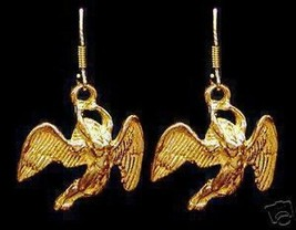 Guardian Angel flying 24kt Gold Plated Earrings Jewelry - $30.63