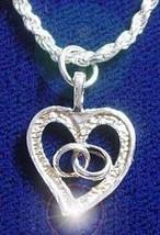 Silver .925 Pendant Charm Heart Wedding Band rings Love - $15.31