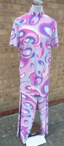 60's / 70's Pink / Blue Swirl , 3 piece Costume  - size L , 16/18 - $32.86