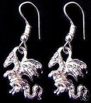 Medieval Times Sterling Silver Celtic Dragon Earrings - $21.05