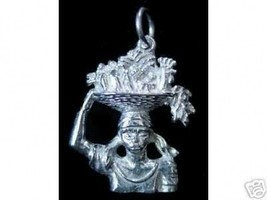 Indonesia Offer God Buddha temple Real sterling silver 925 pendant Charm Jewelry - $15.31