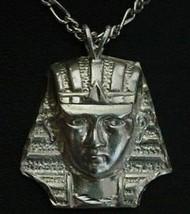 Sterling Silver Pendant Pharaoh Egypt Charm King Tut - $30.63