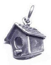 New Sterling silver 925 Bird house feeder charm jewelry - $16.30