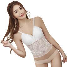 Women's Lace Cut Out Bra Crop Top Club Bralette Bustier Strappy Vest - $19.38