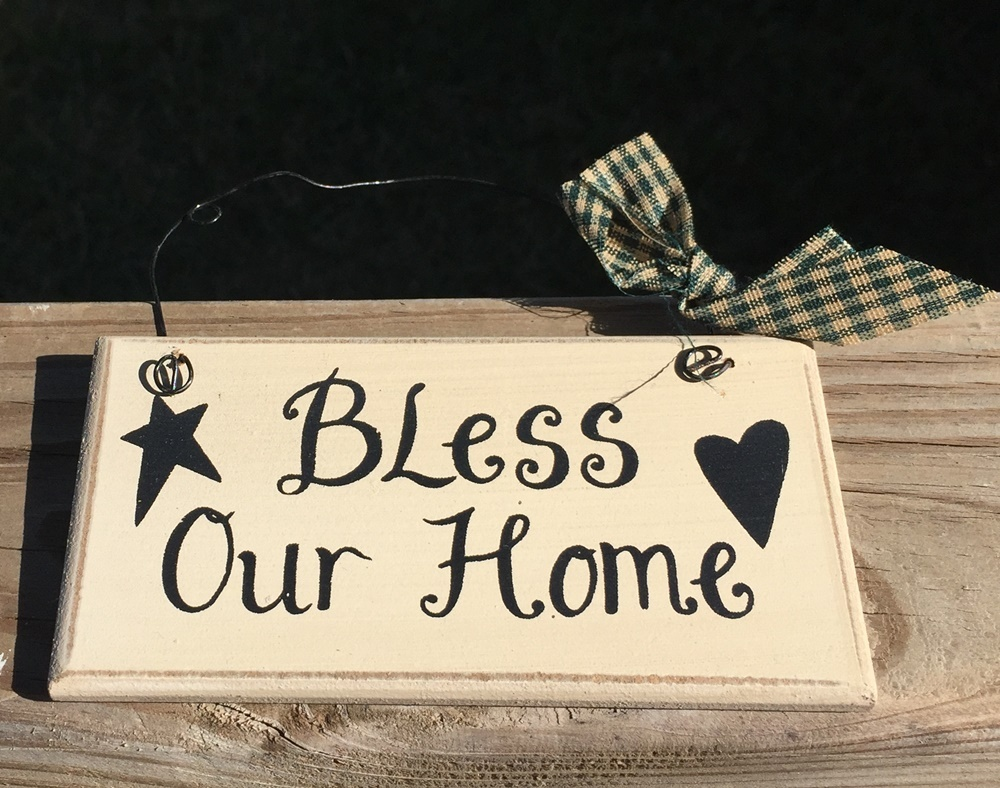 Primary image for 32901B - Bless Our Home  Primitive Wood Sign
