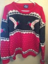 Woolrich Mallard Duck Design 100% Wool Crewneck Sweater Men's L XL - $895,78 MXN
