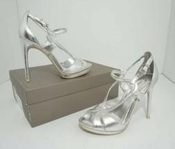 BCBG Max Azria Farid Women's High Heel Sandals Platform Silver Metallic 8 M $299 - $79.20