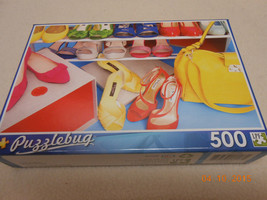 NEW PUZZLE BUG 500 PIECE PUZZLE : FASHION SHOES * PURSES * 4 VALENTINE'S... - $5.93