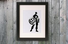 Cross Stitch Pattern Captain America - $4.00