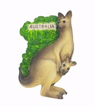 Kangaroo AUSTRALIA Souvenir Fridge Magnet Toy Set 3D Resin Collection - $7.56