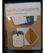 PRINTABLE INVITATIONS Set of 12 WINE theme Martha Stewart Menu Cards Gra... - $9.99