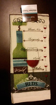 Wine theme Kitchen Towel Red Wines Cabernet Merlot Pinot Reds NEW - $4.99