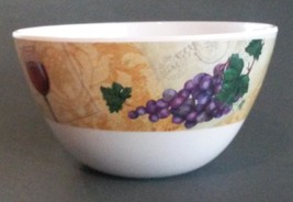WINE theme DIP BOWL Snack Appetizer Candy Dish Grapes NEW