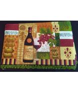 WINE theme PLACEMATS Set of 4 Fleur de Lis Tuscan decor Bottle Grapes Vi... - $14.99