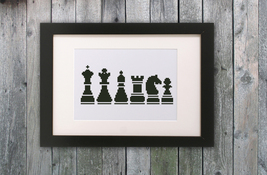 Cross Stitch Pattern Chess - $4.00