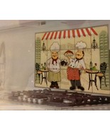 FAT CHEF BACKSPLASH Foil Wall Sticker Decal 30x18 NEW - $8.99
