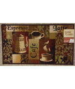 Coffee / Cafe theme Kitchen Accent Rug / Mat, Brown Latte Espresso, 18 x... - $14.95