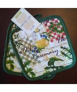 Herb theme POTHOLDERS Set of 2 Olive Oil Garden Green Mediterranean Oliv... - $5.99