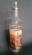 OLIVE OIL VINEGAR DISPENSER Vineyard Mediterranean Tuscan Glass Bottle Cruet NEW image 1