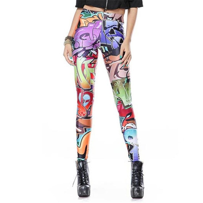 Graffiti Tagging Women's Leggings Yoga Workout Capri Pants