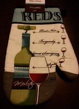 Wine theme Oven Mitts Set of 2 Red Wines Cabernet Merlot Reds NEW - $8.99