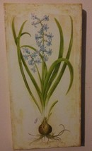 Bluebell ART PICTURE Garden theme Wall Plaque Picture Blue Flower - $14.99