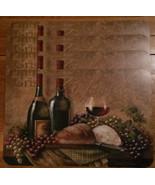 Wine Placemat 4-pc Set Zinfandel Pinot Gris grapes wine glass Plastic NEW - $24.95