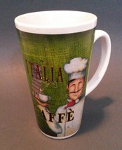 FAT CHEF DECOR MUG Cup Italy Green Italian Caffe Tower of Pisa NEW - $9.95