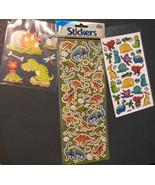 DINOSAUR STICKERS 3-pack 105 sticker set Large 3D Glitter Laser T-Rex NEW - $5.99