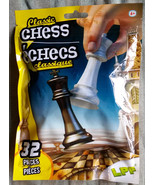 CHESS SET Travel Kids Classic Board Games Plastic 32 pieces LPF NEW - $7.99