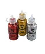 GLITTER GLUE 3-pack Large Red Gold Silver Crafter's Square 5.4 oz NEW - $4.99