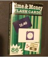 TIME MONEY FLASH CARDS 86 cards Flash Kids read clocks count EXCELLENT C... - $2.95