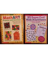 Scholastic MATH ACTIVITY BOOKS Set of 2 - Math Art & Math Board Games - $17.99