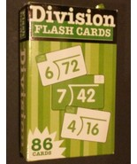 DIVISION FLASH CARDS 86 cards Flash Kids EXCELLENT CONDITION - $3.99