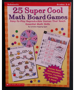 25 Super Cool Math Board Games: Easy-to-Play Reproducible Games that Tea... - $6.99