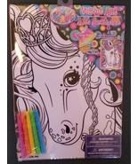 HORSE VELVET ART Set with Markers LISA FRANK Pony NEW - $7.99