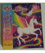 """Puzzle Lisa Frank Skye Unicorn Jigsaw Rainbow 48 Pieces Size 91"""" x 103"""" NEW - $4.99"""