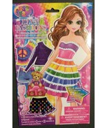 LISA FRANK STICKER DOLL Paper Diva Fashions Dress-Up 25 outfits NEW - $4.99