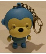 MONKEY KEY CHAIN BLUE with LED FLASH LIGHT and SOUND Ring NEW - $4.99