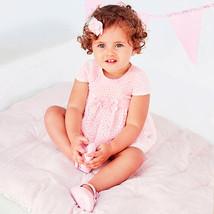 Mayoral Baby Girl 0M-12M Rose-Pink Burnout-Petal Devore Dress