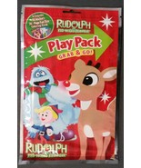 Rudolph the Red-Nosed Reindeer Play Pack Stickers Crayons Coloring Book NEW - $4.99