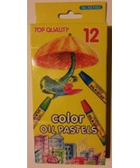 Color Oil Pastels, Assorted Colors, Pack of 12 NEW - $4.99