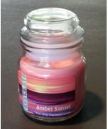 Fragranced Candle in Glass Jar Pink Amber Sunset Scented 3 oz NEW - $6.99