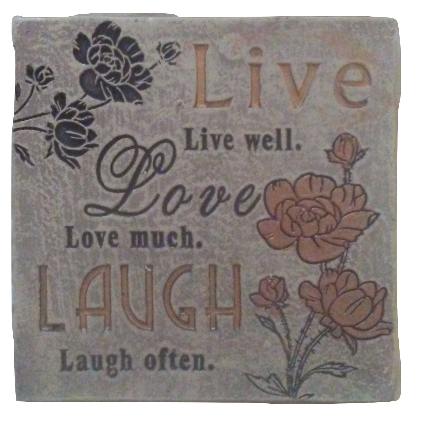 "Primary image for LIVE LOVE LAUGH PLAQUE Sign 4"" Ceramic NEW"