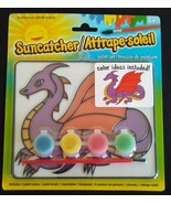 DRAGON SUN CATCHER Paint Set Art Kids Craft Kit NEW - $8.99